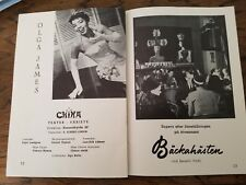 1958 CHINA THEATRE Stockholm Sweden RARE PLAYBILL Olga James Variety Show DANCER