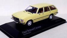 Opel Rekord Caravan (Wagon) 1975 in Yellow - 1:43 scale Minichamps #400 044010