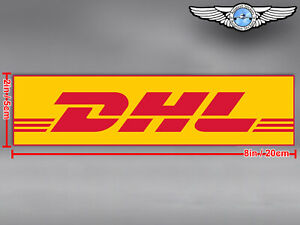 DHL LOGO RECTANGULAR DECAL / STICKER