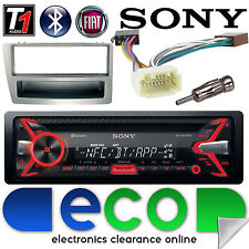Honda Civic Sony EP2 55 X 4W CD MP3 USB Bluetooth estéreo de coche y Plateado KIT FASCIA
