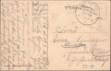 GERMANY, 1916. Post Card Marine Schiffspost , MSP 48, SMS Thuringen