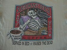 Vintage 90's Ray Troll Raven's Brew Coffee Deadman's Reach 1996 T Shirt Size L