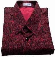 Pattern no.13 Mens Thai Silk Shirt Short S-M-L-XL-XXL-XXXL Long Sleeve