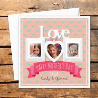 Handmade Personalised Happy Mothers Day Card Photo Mum Mom Birthday Christmas