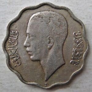 IRAQ 1938-I (AH1357) KING GHAZI I FOUR 4 FILS COIN (KM# 105a)
