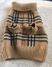 Authentic Burberry 100% LambsWool Dog Sweater Size Medium