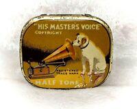 Vintage Tin-His Masters Voice/HMV Gramophone Needles Half Tone-some contents
