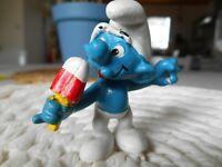 Figurine schtroumpf Schleich 20053 SUCE UNE GLACE (Smurf Puffi Pitufo Schlumpf)