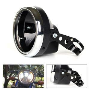 7 Inch Motorcycle Bike Headlight Light Fairing Retro Racer Cover Housing Stent