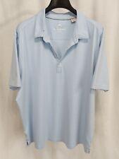 Tommy Bahama XXL S/S Island Modern Fit 96 Cotton 4 Spandex Blue Polo Shirt