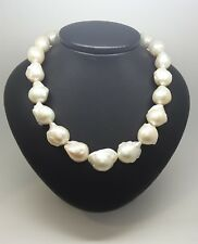 Miran 170496 White Freshwater Keshi Pearl Necklace 12mm-15mm 45cm RRP$600