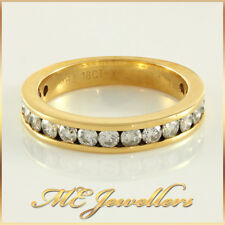 Ladies Solid Yellow Gold 1ct TDW Round Diamonds Ring 18k 18k 18ct Sz N1/2, 4.9G