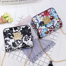 Fashion Exquisite Embroidery  Flower Printing Handbag Women Shoulder Bag Wallet~