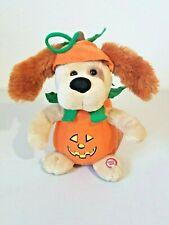 Sound N Light Animatronics Halloween Dog Pumpkin Costume Plays Monster Mash