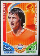 Johan Cruyff Holland International Legend football trading card Topps Match