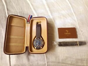 Yema Superman GMT Bronze Blue dial 41mm automatic diver watch Limited Edition