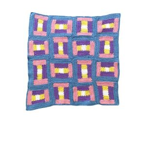 Handmade Baby Blanket Crochet Knit Afghan Granny Square Throw Cot Multicoloured