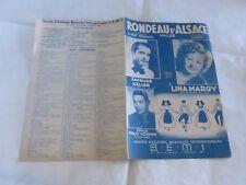 MARGY & HELIAN & PRUD'HOMME - Partition RONDEAU D'ALSACE !!!