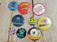 Lot of 9 Vintage 1980's Pins/Buttons Pin Back Buttons Beam Me Up,I Hate Mondays