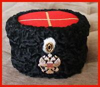 WW2 papakha Colonel URSS militaire russe Finlandais hat 1943 CARACUL copie Repro