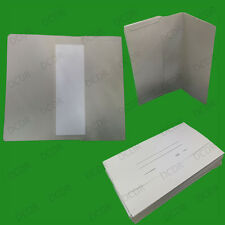 50x Foolscap Grey Document Wallets A4 Paper Storage Files Folders Office Filing