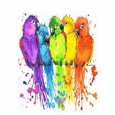 Birds Colorful Paint By Numbers Kits DIY Number Canvas Painting Hand Painted On