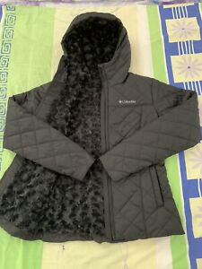 $130 Size XS Women Columbia Copper Crest Sherpa Lined Quilted Hood Jacket