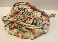 Vera Bradley Rare Retired Perennials Floral Drawstring Jewelry Pouch