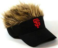 MLB San Francisco Giants Logo Crazy Flair Hair Visor Cap Adjustable Hat