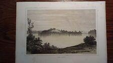 """Lithograph """"LAKE JESSIE"""" /John Mix Stanley / 1860 Railroad Survey Report"""