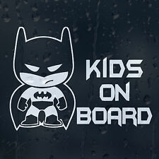 Kids On Board Little Batman Car Decal Vinyl Sticker For Bumper Or Window