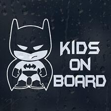 Kids On Board Little Batman Car Decal Vinyl Sticker For Bumper Or Window
