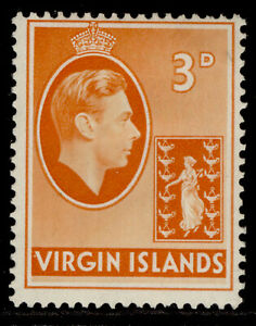 BRITISH VIRGIN ISLANDS GVI SG115a, 3d orange, M MINT.