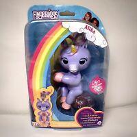Fingerlings Baby Unicorn - Alika Purple w/ Rainbow Mane and Tail BNIB GORGEOUS