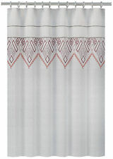 "Nate Berkus Shower Curtain Embroidered Panel White Pink Lace Size 72"" X 72"""