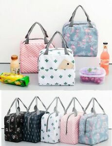 Adult Kids Lady Lunch Bag Reusable School Picnic Insulated Waterproof Bags UK