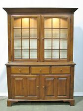 1998 Cherry Shaker Style China Cabinet by Nichols & Stone; Mint Condition