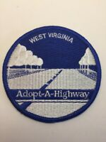 "Vtg West Virginia Adopt A Highway Sew On Embroidered Patch 3"" Badge WV USA"