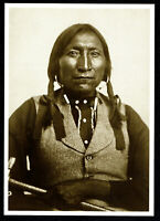 ⫸ 854 Postcard LONE WOLF Native American Kiowa Indian Chief1871 Soule Photo New