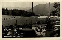Bad Tölz alte AK Bayern 1939 gelaufen Partie am Alpenhaus Kogel Terrasse Wiesen
