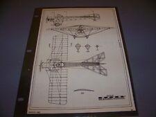 VINTAGE..1912 BLACKBURN MONOPLANE...3-VIEWS/CROSS SECTIONS ...RARE! (957)