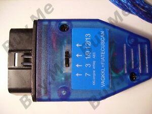FIAT ALFA USB OBD2 DIAGNOSTIC LEAD SWITCH ECU AIRBAG ABS MULTIECUSCAN UK