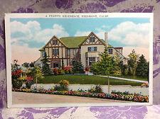 Residence Piedmont CA Alameda Co Tudor House Landscape Vtg Postcard Color Floral
