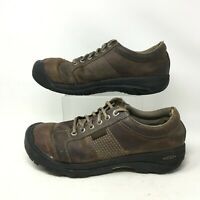 Keen Austin Oxford Sneakers Casual Shoe Lace Up Waterproof Leather Brown Mens 12