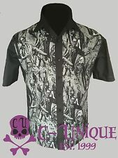 Mens Horror Zombie Monster 50s lounge diner shirt Gothic Rockabilly Psychobilly