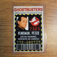 Ghostbusters ID Badge - Peter Venkman cosplay costume prop