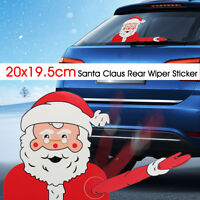 Waving Santa Claus Decoration Car Rear Window Windscreen Wiper Sticker Christmas