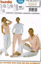 Burda Misses' Shirt,Tank,Pants,Jacket Pattern 7890 Size 8-18 UNCUT