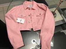 TNA Pink Jean jacket Size XXS (BRAND NEW)
