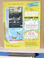 1971 Chicago Coin DEFENDER MACHINE GUN Arcade Rifle Advertising Flyer